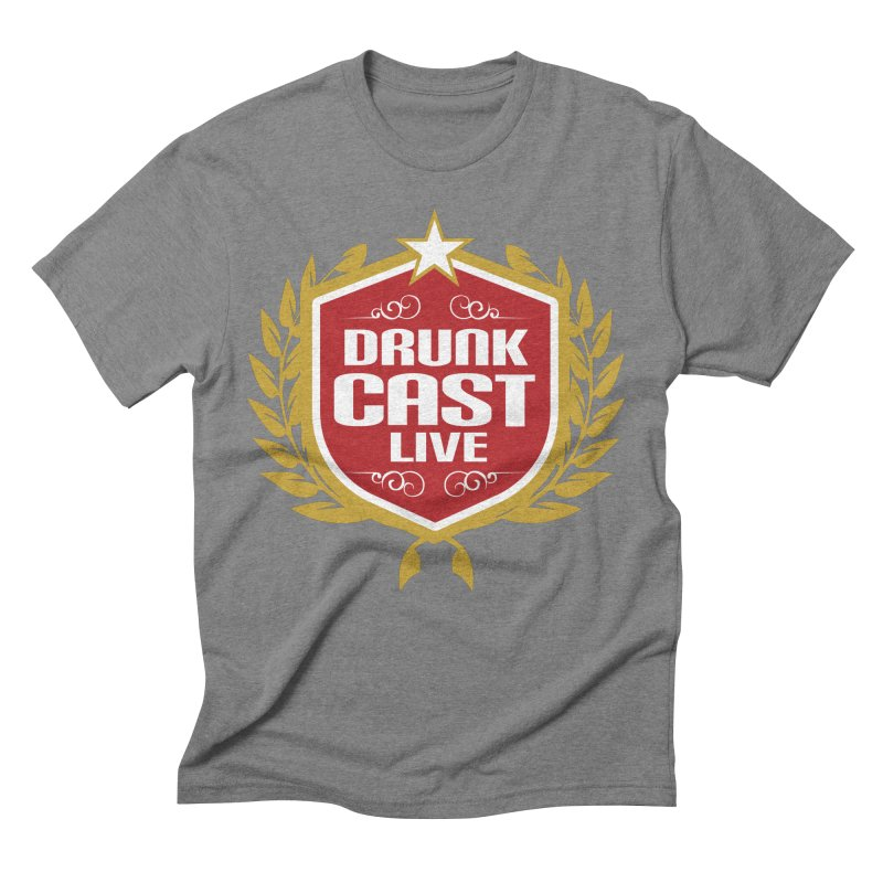 DrunkCast: Live! Logo Men's Triblend T-Shirt by Content Pending - Things & Notables