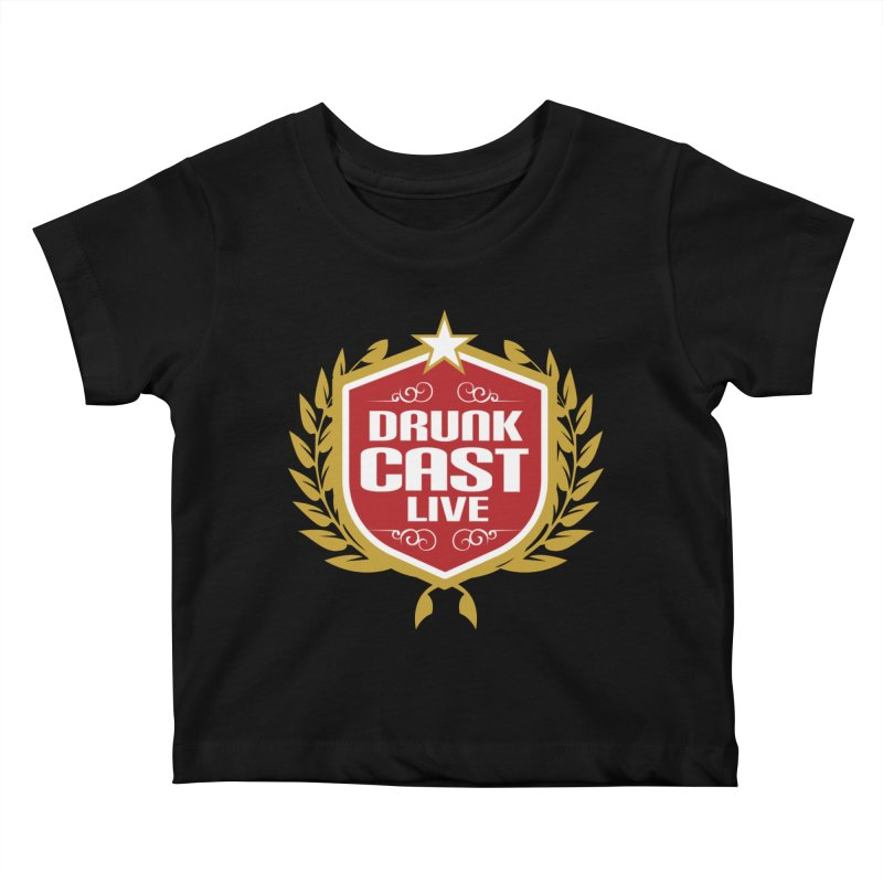 DrunkCast: Live! Logo Kids Baby T-Shirt by Content Pending - Things & Notables