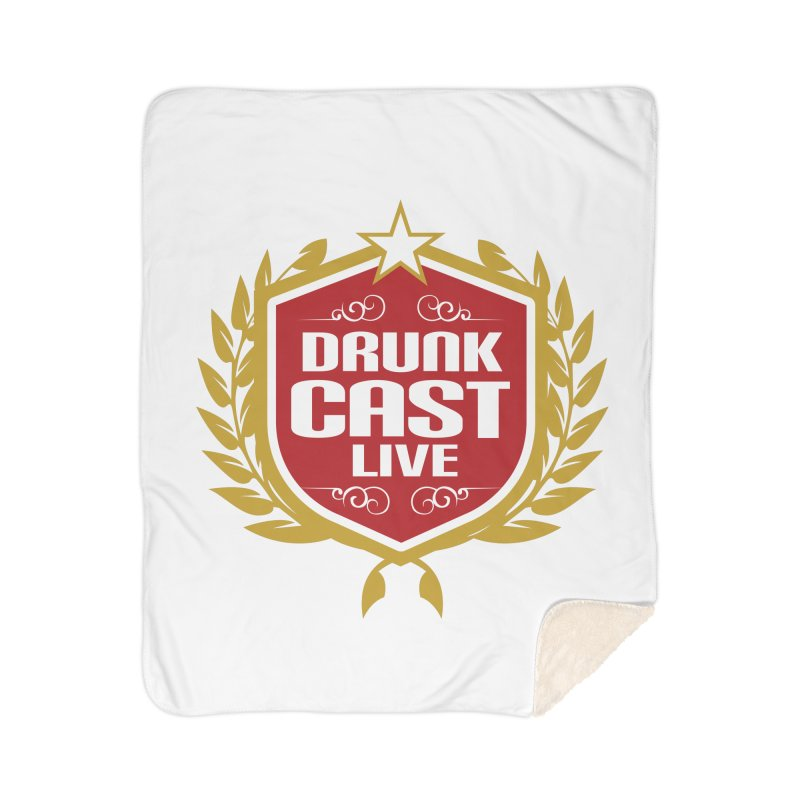 DrunkCast: Live! Logo Home Sherpa Blanket Blanket by Content Pending - Things & Notables