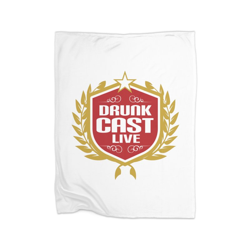 DrunkCast: Live! Logo Home Fleece Blanket Blanket by Content Pending - Things & Notables