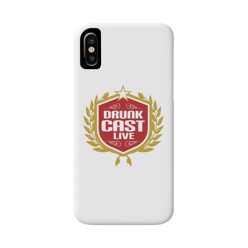 DrunkCast: Live! Logo Accessories Phone Case by Content Pending - Things & Notables