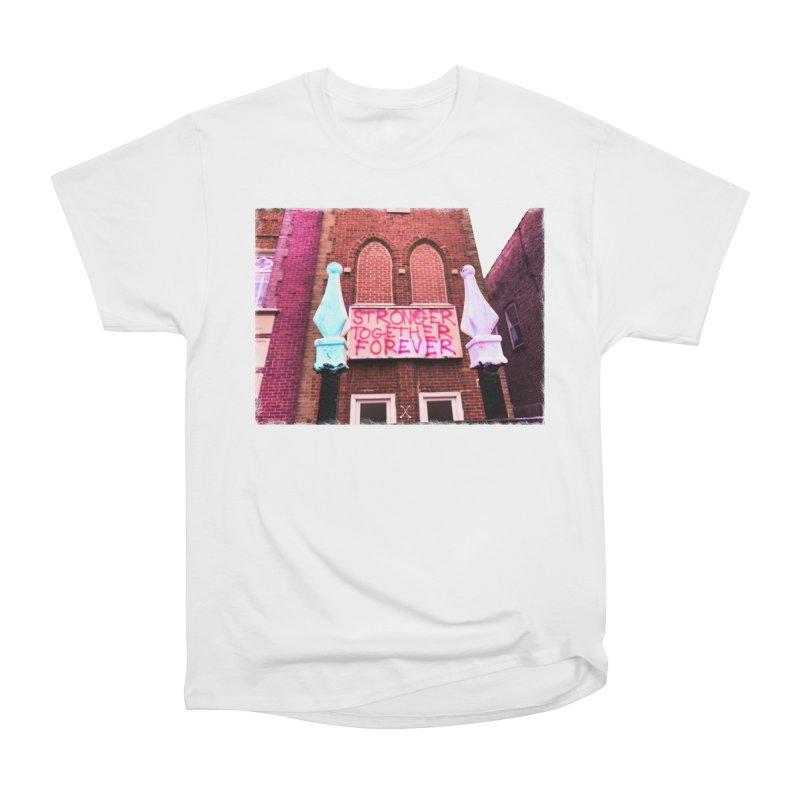 STRONGER in Men's Heavyweight T-Shirt White by drybonesrising's Shop