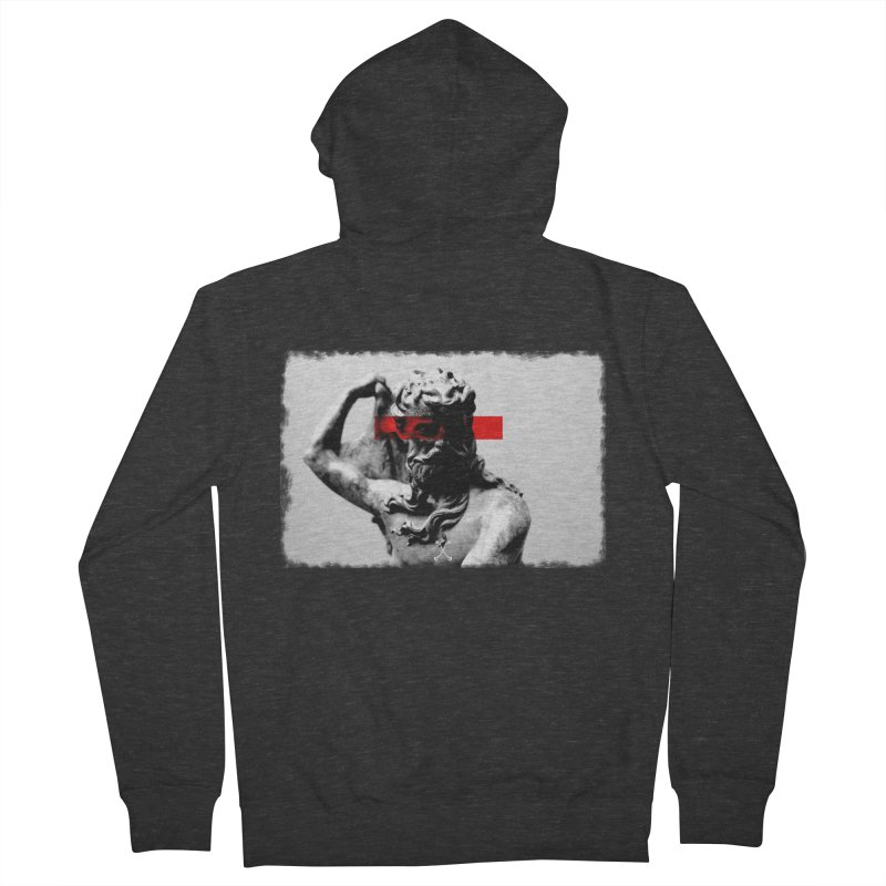 TYRANT in Men's French Terry Zip-Up Hoody Smoke by drybonesrising's Shop