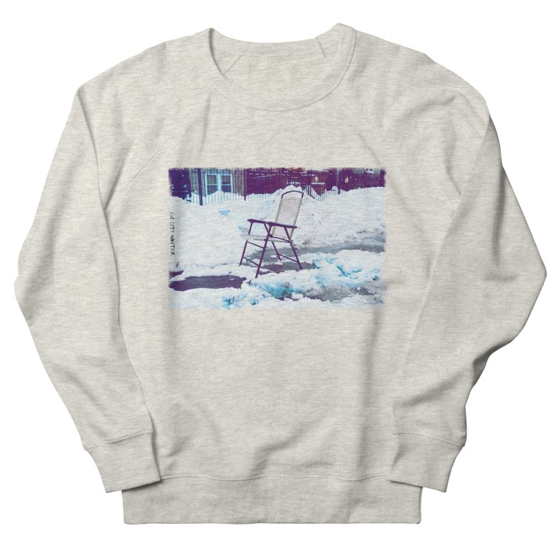 CHI CITY WINTER in Men's French Terry Sweatshirt Heather Oatmeal by drybonesrising's Shop