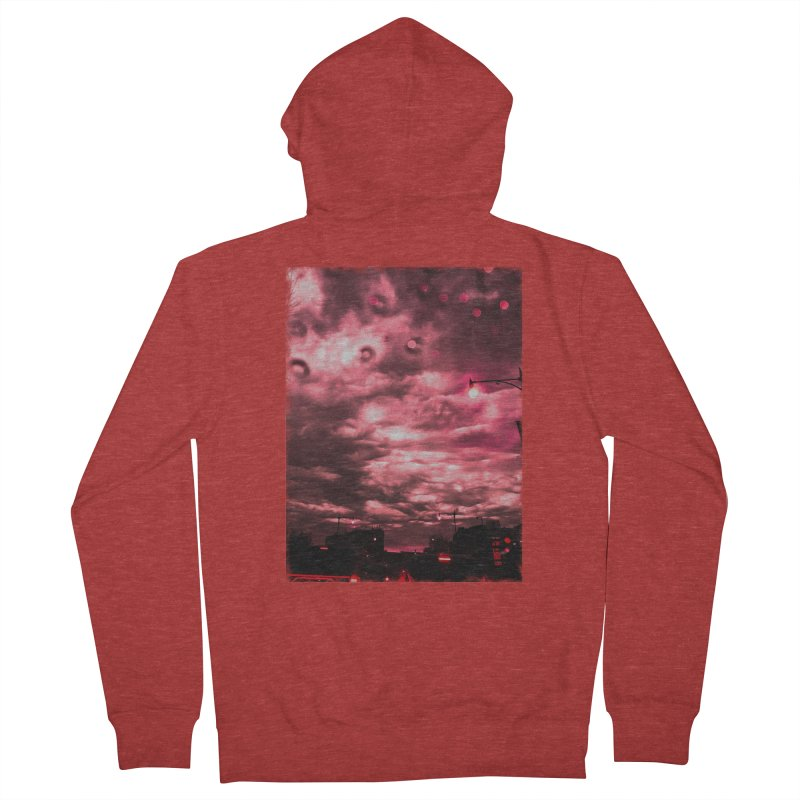 FIRE SKIES in Women's French Terry Zip-Up Hoody Heather Red by drybonesrising's Shop