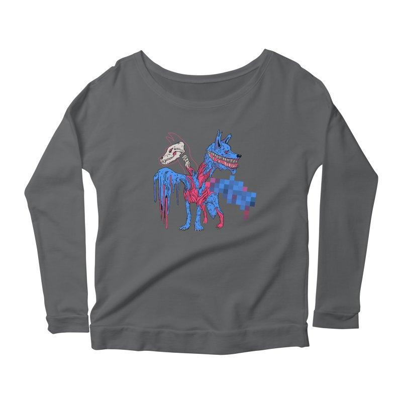 DSCERBERUS Women's Scoop Neck Longsleeve T-Shirt by Dom's Shop
