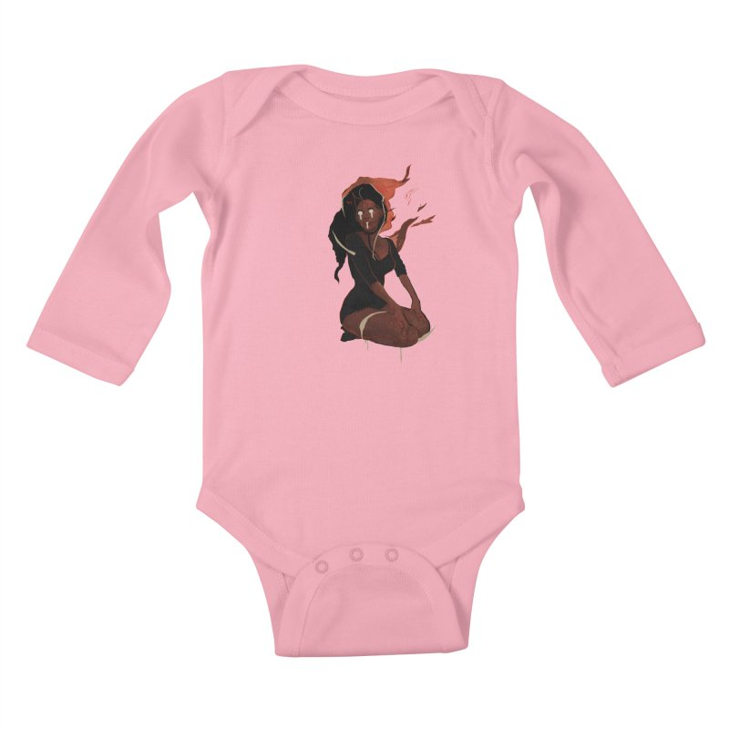 Your First Demon Sister Kids Baby Longsleeve Bodysuit by Dom's Shop
