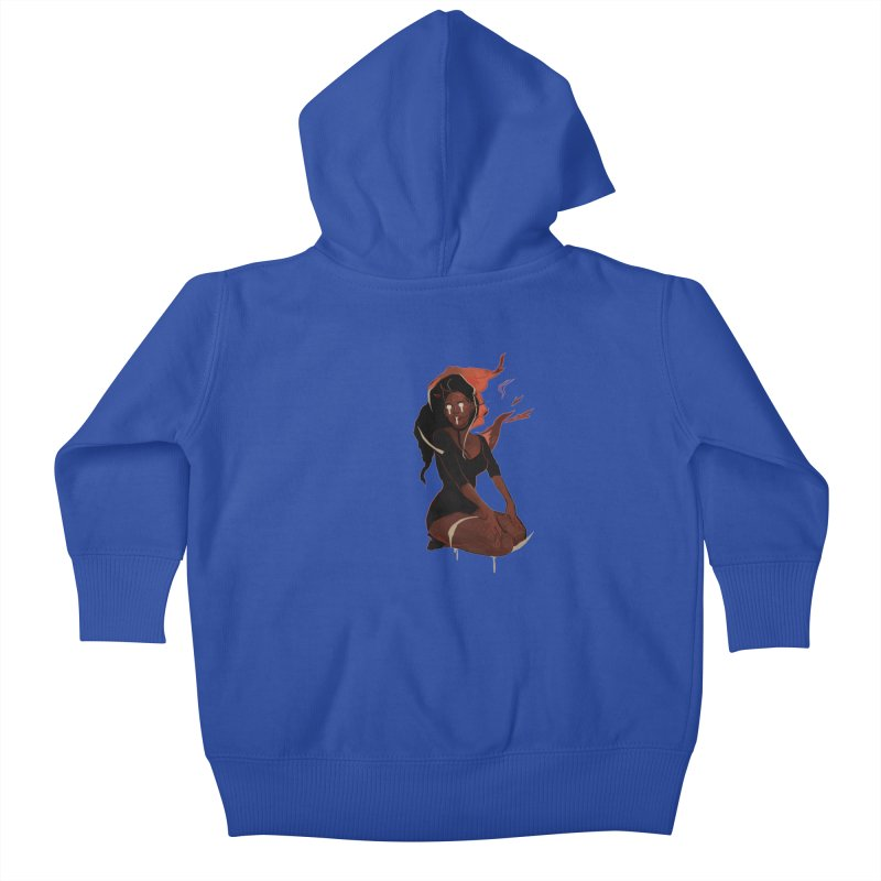 Your First Demon Sister Kids Baby Zip-Up Hoody by Dom's Shop