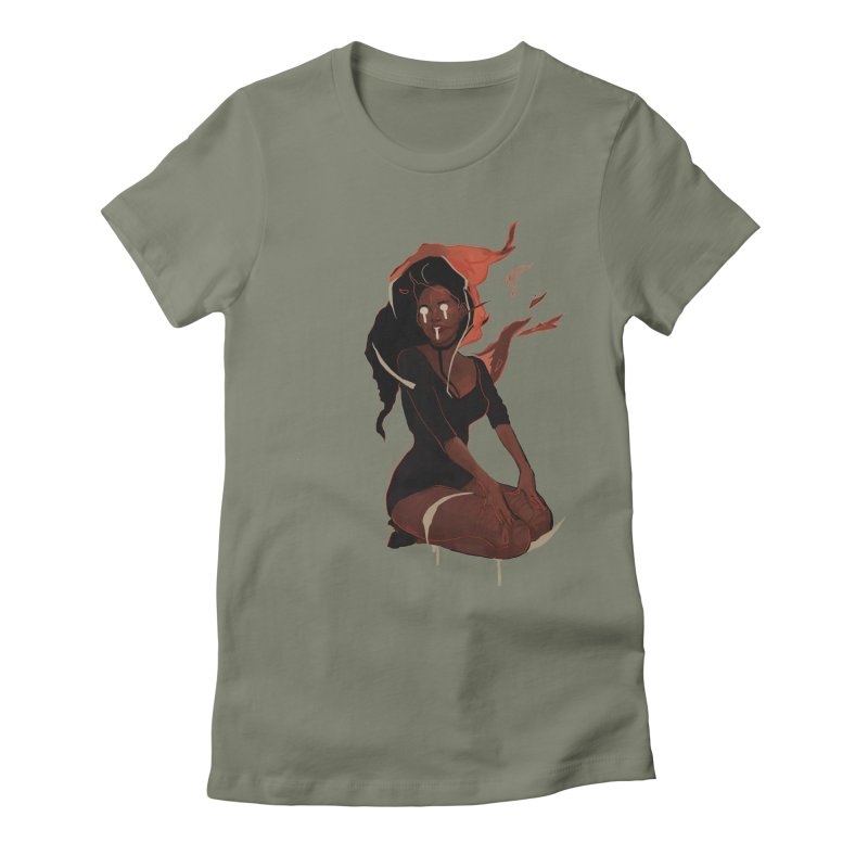 Your First Demon Sister Women's Fitted T-Shirt by Dom's Shop