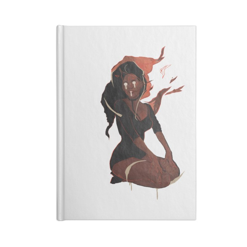 Your First Demon Sister Accessories Blank Journal Notebook by Dom's Shop