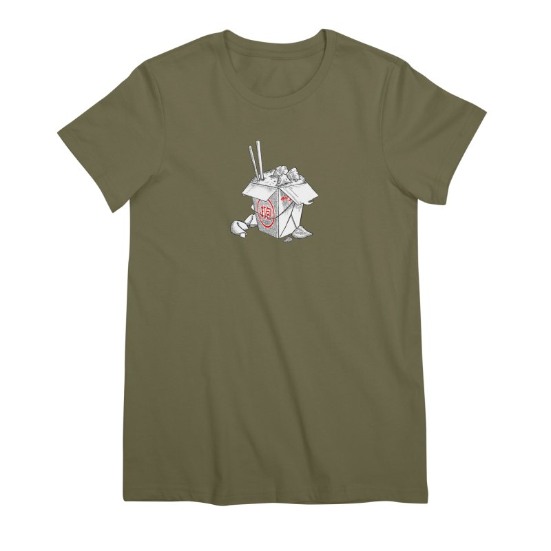 Take Out Women's Premium T-Shirt by DTM Creative