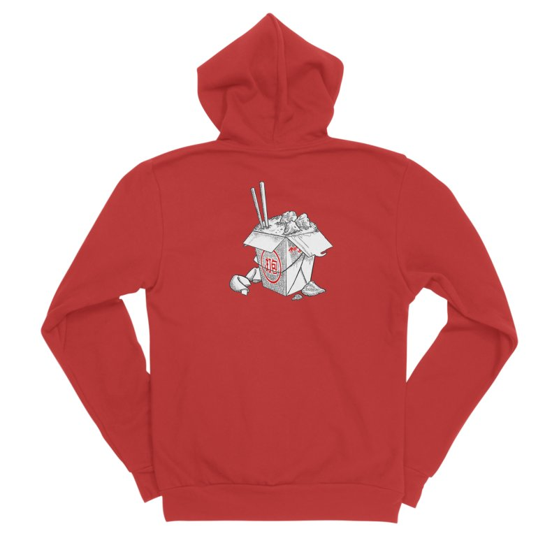Take Out Men's Zip-Up Hoody by DTM Creative
