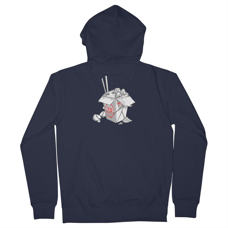 Take Out Men's French Terry Zip-Up Hoody by DTM Creative