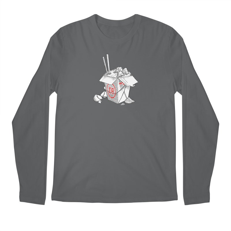 Take Out Men's Regular Longsleeve T-Shirt by DTM Creative
