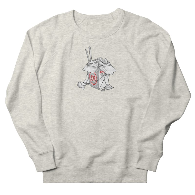 Take Out Women's French Terry Sweatshirt by DTM Creative