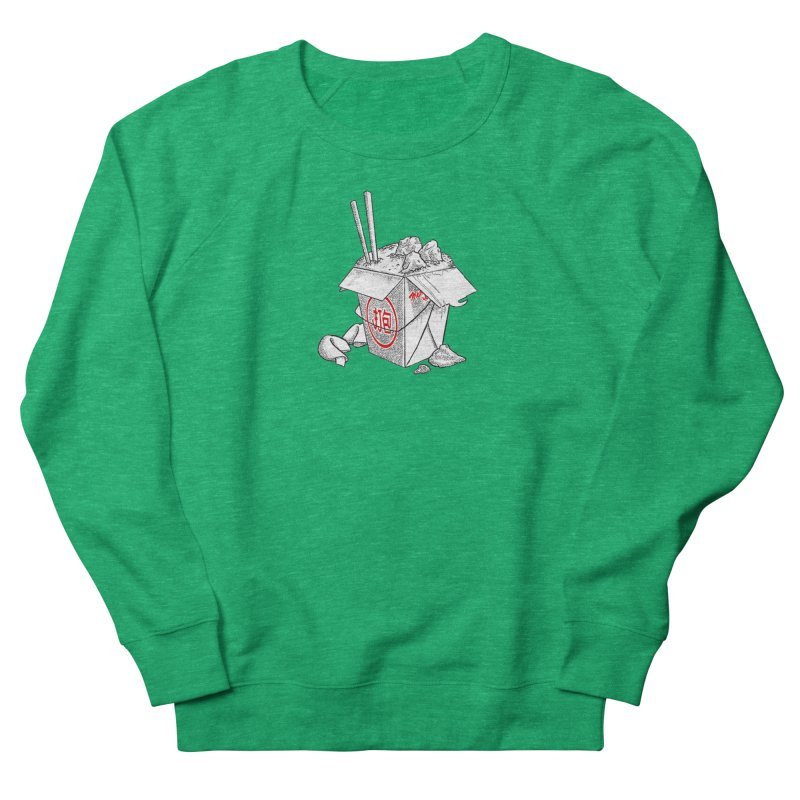 Take Out Men's French Terry Sweatshirt by DTM Creative