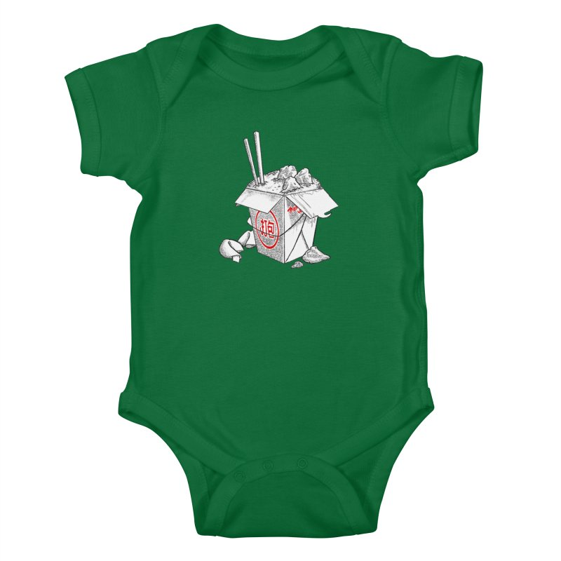 Take Out Kids Baby Bodysuit by DTM Creative
