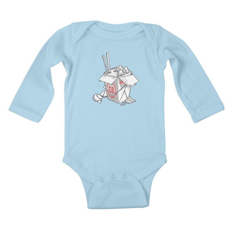 Take Out Kids Baby Longsleeve Bodysuit by DTM Creative