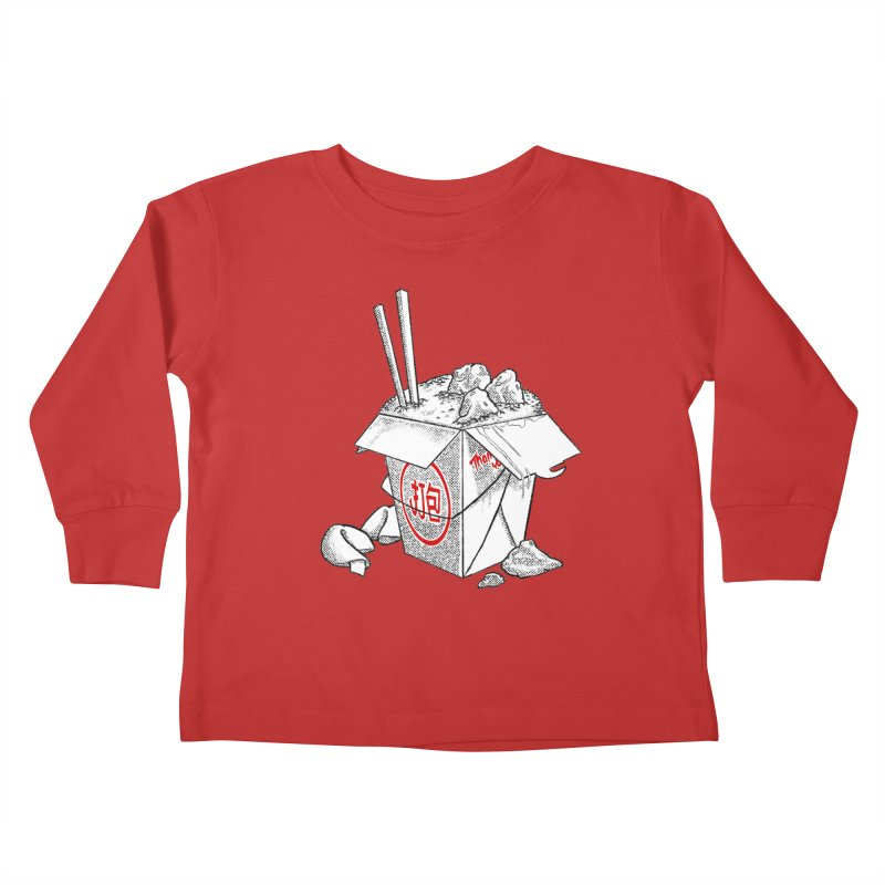 Take Out Kids Toddler Longsleeve T-Shirt by DTM Creative