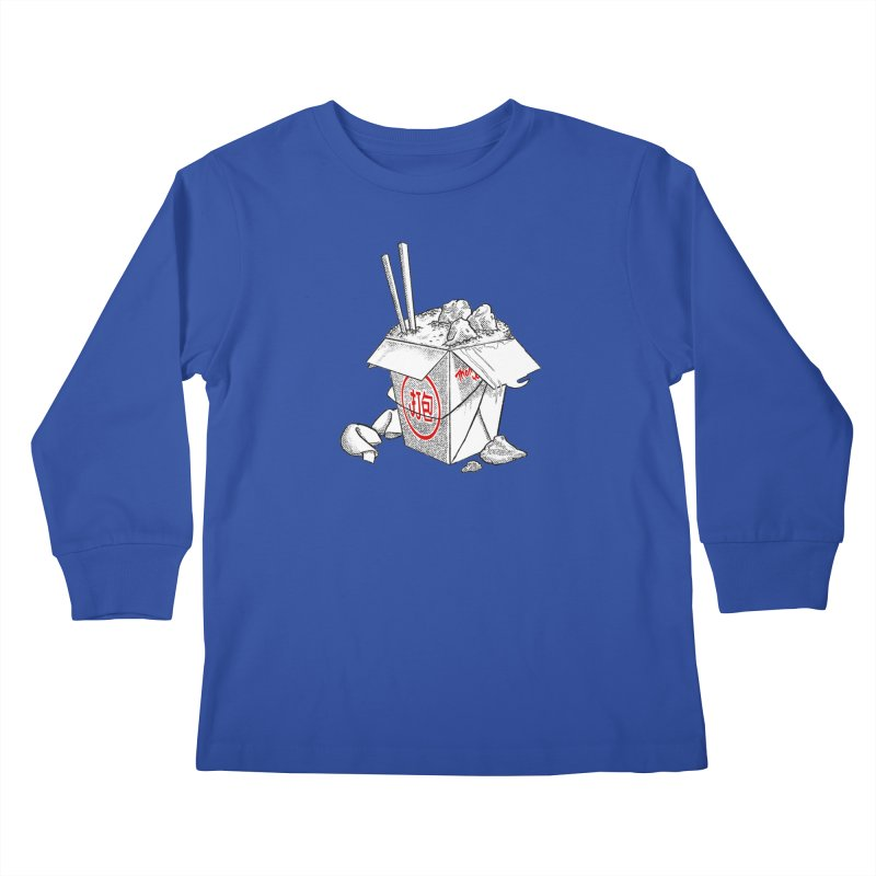 Take Out Kids Longsleeve T-Shirt by DTM Creative