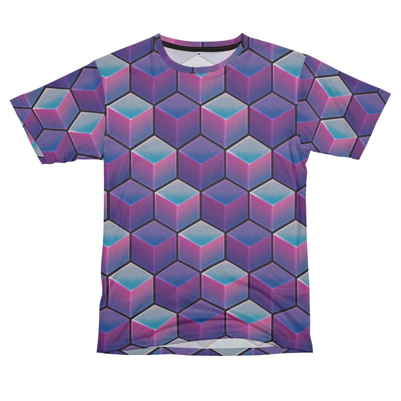 Q U A D R A N T A L Men's French Terry T-Shirt Cut & Sew by DTM Creative