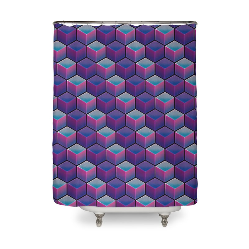 Q U A D R A N T A L Home Shower Curtain by DTM Creative
