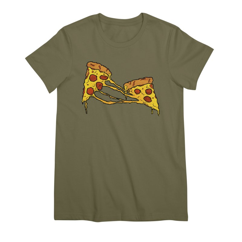 Gooey Pizza Slices Women's Premium T-Shirt by DTM Creative