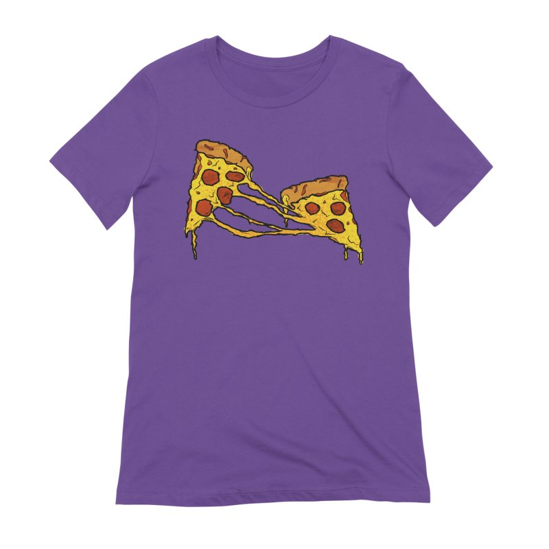 Gooey Pizza Slices Women's Extra Soft T-Shirt by DTM Creative