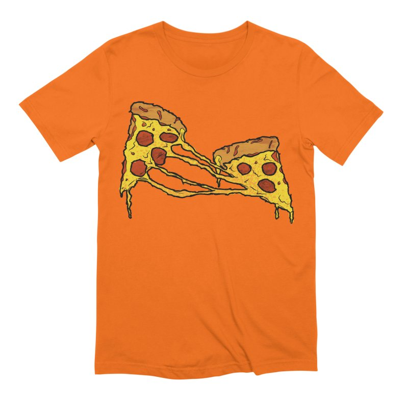 Gooey Pizza Slices Men's Extra Soft T-Shirt by DTM Creative