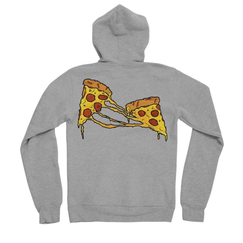 Gooey Pizza Slices Men's Sponge Fleece Zip-Up Hoody by DTM Creative