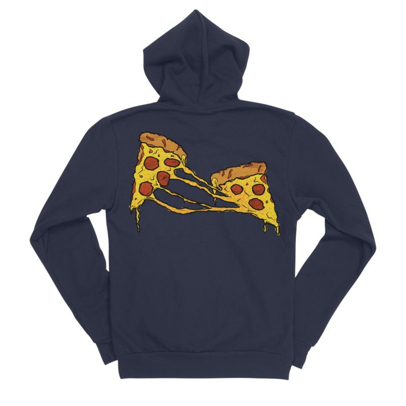 Gooey Pizza Slices Women's Sponge Fleece Zip-Up Hoody by DTM Creative