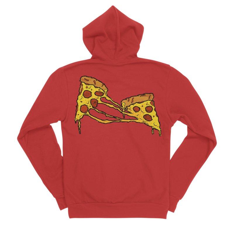 Gooey Pizza Slices Men's Zip-Up Hoody by DTM Creative