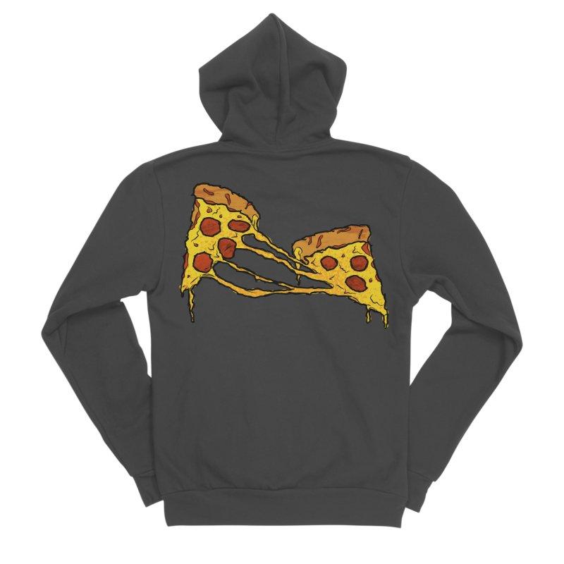 Gooey Pizza Slices Women's Sponge Fleece Zip-Up Hoody by DTM Creative