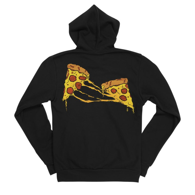 Gooey Pizza Slices Men's Sponge Fleece Zip-Up Hoody by DTM Creative