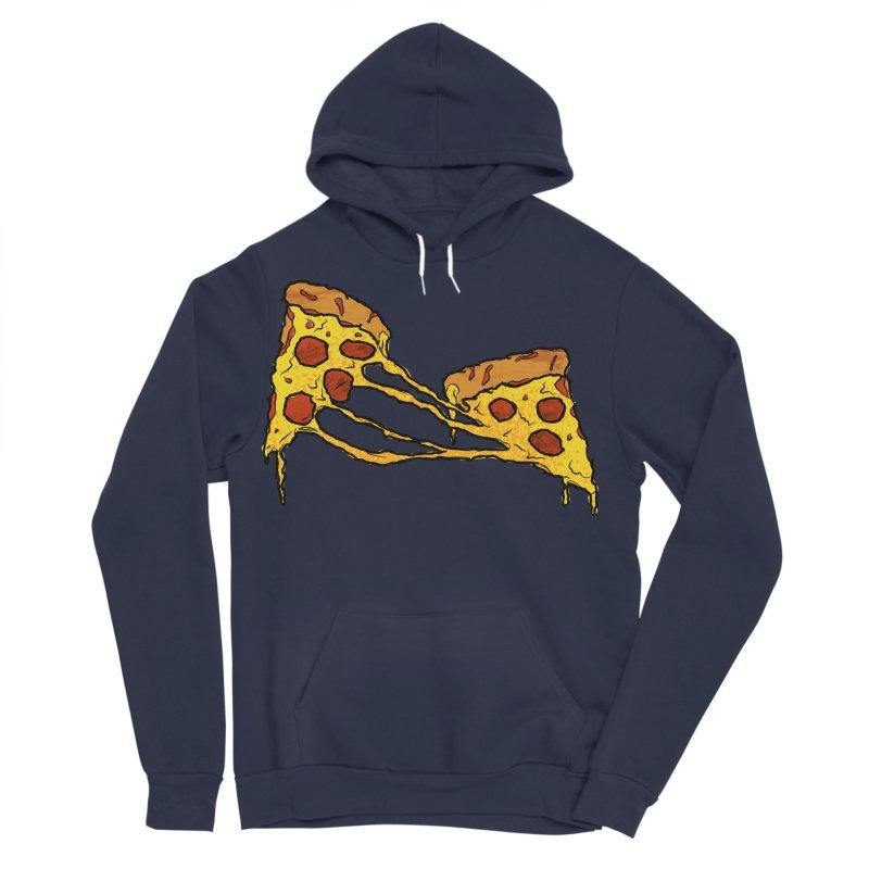 Gooey Pizza Slices Women's Sponge Fleece Pullover Hoody by DTM Creative