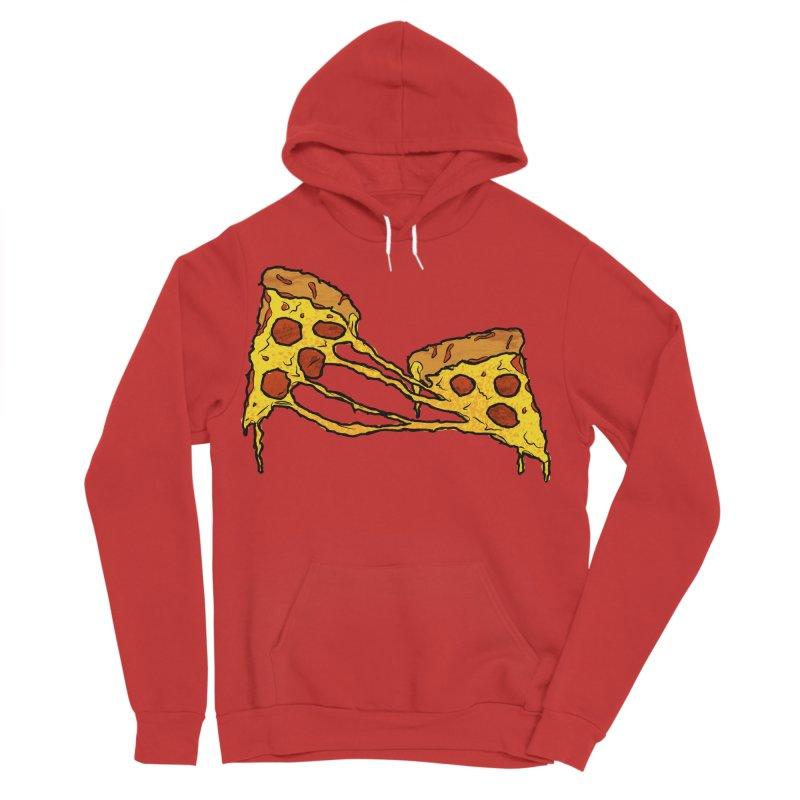 Gooey Pizza Slices Men's Sponge Fleece Pullover Hoody by DTM Creative