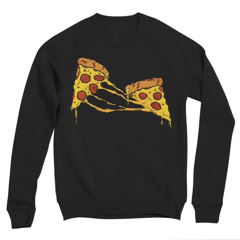 Gooey Pizza Slices Women's Sponge Fleece Sweatshirt by DTM Creative