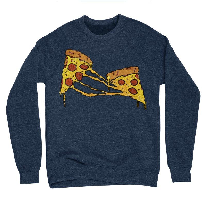 Gooey Pizza Slices Men's Sponge Fleece Sweatshirt by DTM Creative