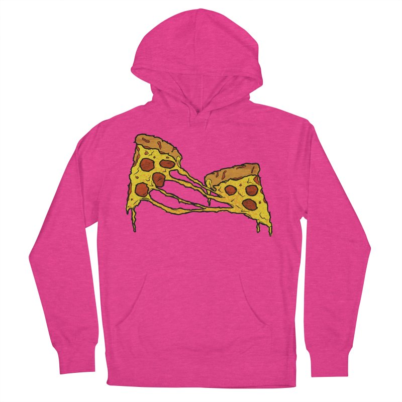 Gooey Pizza Slices Women's French Terry Pullover Hoody by DTM Creative