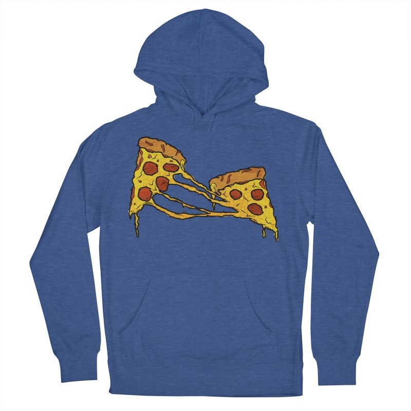 Gooey Pizza Slices Men's French Terry Pullover Hoody by DTM Creative