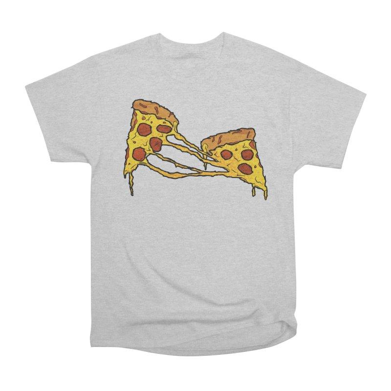 Gooey Pizza Slices Women's Heavyweight Unisex T-Shirt by DTM Creative