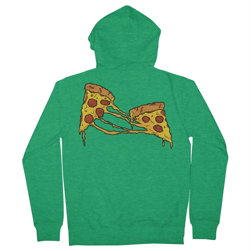 Gooey Pizza Slices Women's French Terry Zip-Up Hoody by DTM Creative
