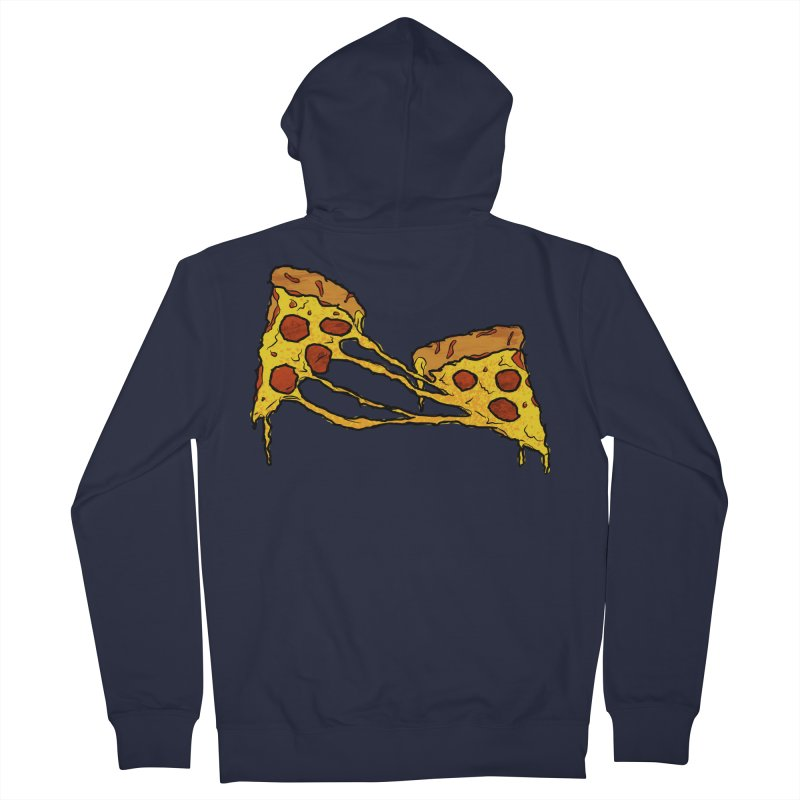 Gooey Pizza Slices Men's French Terry Zip-Up Hoody by DTM Creative
