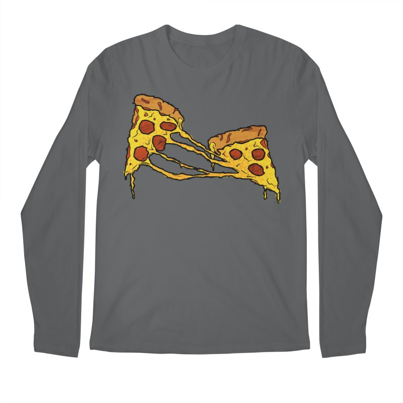 Gooey Pizza Slices Men's Longsleeve T-Shirt by DTM Creative