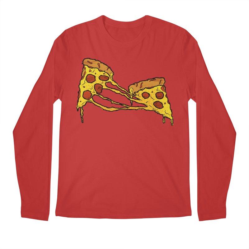 Gooey Pizza Slices Men's Regular Longsleeve T-Shirt by DTM Creative