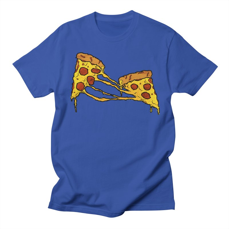 Gooey Pizza Slices Men's Regular T-Shirt by DTM Creative