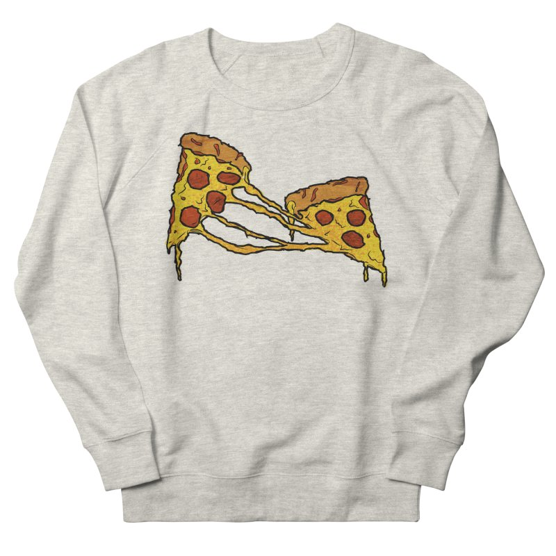Gooey Pizza Slices Women's French Terry Sweatshirt by DTM Creative