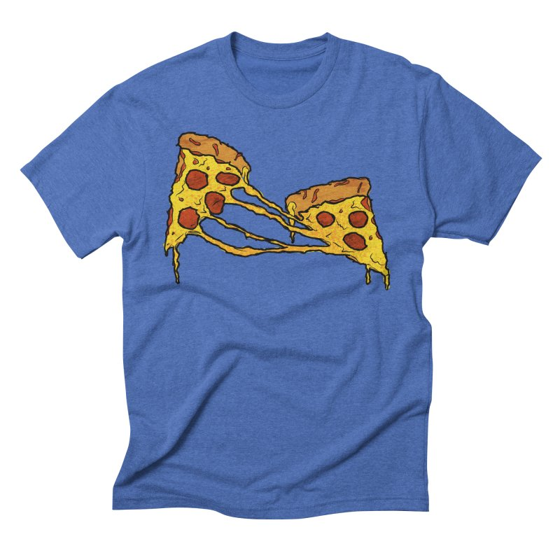 Gooey Pizza Slices Men's Triblend T-Shirt by DTM Creative