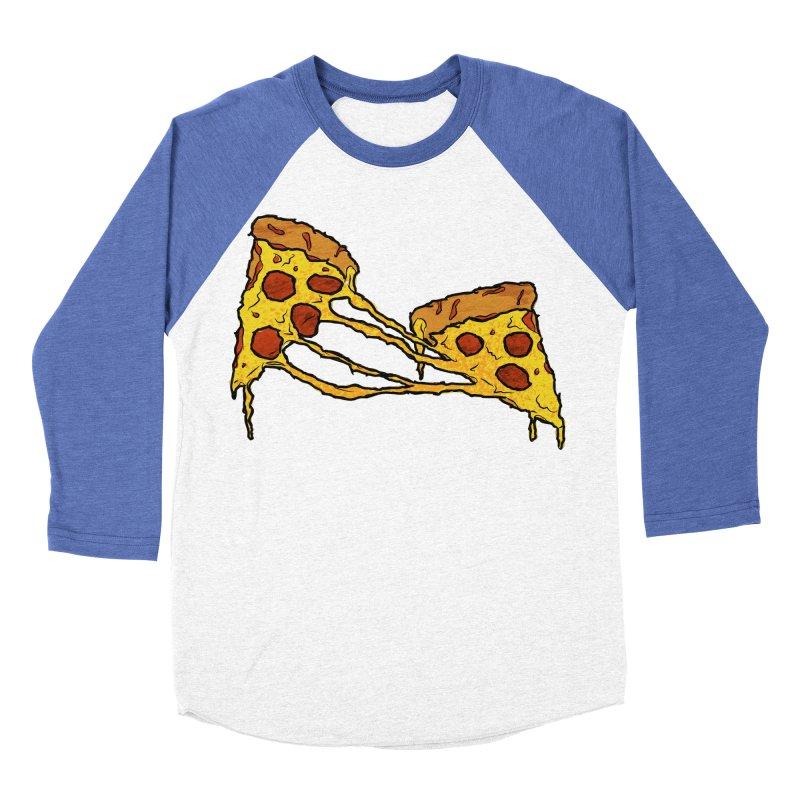 Gooey Pizza Slices Women's Baseball Triblend Longsleeve T-Shirt by DTM Creative