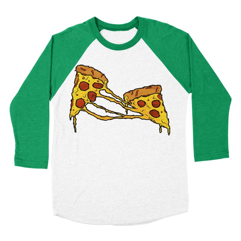 Gooey Pizza Slices Women's Baseball Triblend Longsleeve T-Shirt by DTM Creative